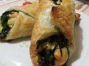 Rollitos hojaldre relleno queso espinacas Involtini pasta sfoglia broccoli formaggio