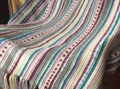 Manta crochet rayas