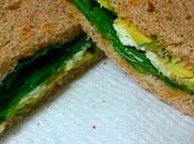Sandwich espinacas, aguacate, queso paté ibérico
