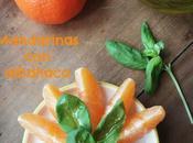 Mandarinas albahaca