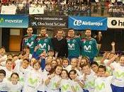 Movistar Inter celebró décima Gira Megacracks temporada Colegio Gabriel Madrid ante niños