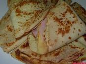 Crèpes sencillas jamón cocido queso