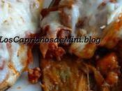 Berenjenas rellenas pollo curry mozarella