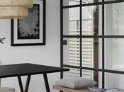 Apartamento nórdico blanco negro