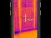 lanza primera Smartphone imagen térmica, resistente contra agua impactos:
