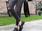 Must have: ripped knee jeans