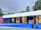 Primeras imágenes montaje colegio infantil diseñado a-cero municipio madrid