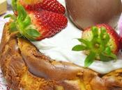 Cheesecake chocolate blanco relleno fresas naturales