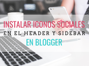 Instalar iconos redes sociales header sidebar blogger