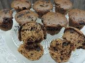 Muffins chocolate trozos chocolate.