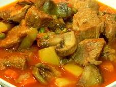 Receta carne salsa verduras