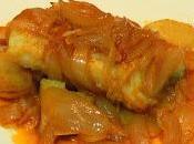 Receta bacalao encebollado horno