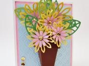 Tarjeta Primaveral Flores flores!! Tutorial.