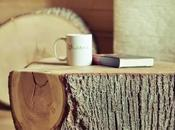 Mesas troncos madera