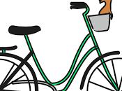 Ilustración bicicleta paseo perro