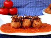 Albóndigas avena tofú salsa tomate