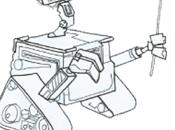 Versión personaje WALL-E, protagonista películ...