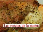 Receta rápida conejo horno cebolletas tiernas