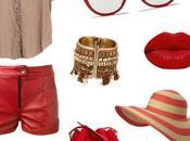 Ropa para gorditas, outfit colores rojo camel