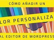 Como añadir color personalizado editor WordPress