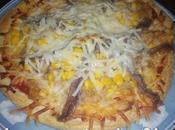 Pizza casera arabe