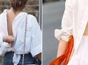Style tips; backless shirt.-