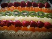 Tarta crema pastelera frutas