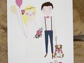 Invitaciones boda originales ilustradas