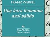 letra femenina azul pálido Franz Werfel