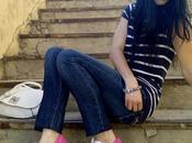 Zapatillas Lona+Jeans+Camiseta Rayas= C+A+S+U+A+L+O+O+K+S+P+O+R+T+Y