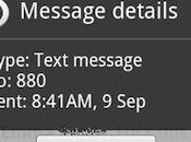 Android cambia destinatario