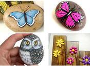 Ideas bonitas para pintar mariposas piedras