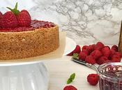 Tarta queso mermelada frambuesa {Cheesecake with raspberry jam}