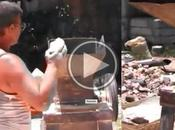 Cubano inventa máquina convierte escombro derrumbes materiales construcción
