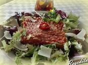 Tartar ternera albahaca tomate seco
