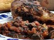 Muslos pavo brasa verduras salsa aromática