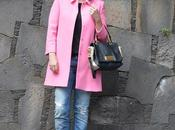 Zara pink coat outfit