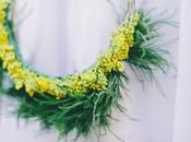 Corona flores primaveral