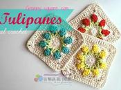 Granny square Tulipanes crochet