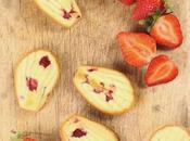 Madeleines fresas lima glaseadas