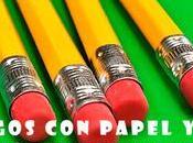 juegos papel lápiz nuestra infancia, imprimibles.