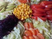 Ensalada multicolor frutas hortalizas