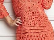 Vestido salmon crochet