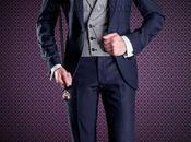 Traje novio entallado azul marino, elegante, moderno juvenil