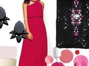 Complementos para combinar vestido largo fucsia