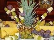 Centro mesa uvas queso