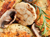 Pollo marinado champiñones