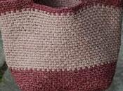 Bolso bicolor base cuadrada