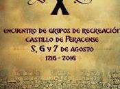 Cartel programa encuentro medieval Castillo Peracense.