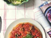 Tarta tatin tomates cherry, queso cabra nueces romero marina